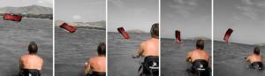 перезапуск с воды кайт серфинг